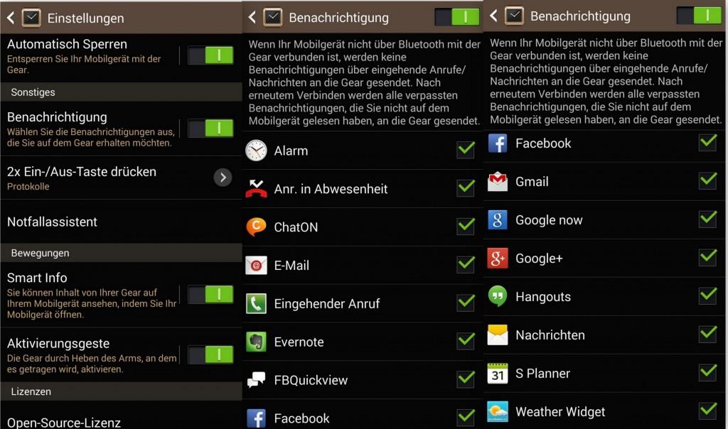 Bevorzugten Apps - SAM Galaxy Gear - SmartTechNews