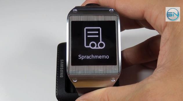 Sprach-Memo Funktion  - SAM Galaxy Gear - SmartTechNews
