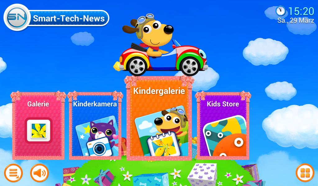 Kinderoberfläche des Galaxy Tab 3 Kids