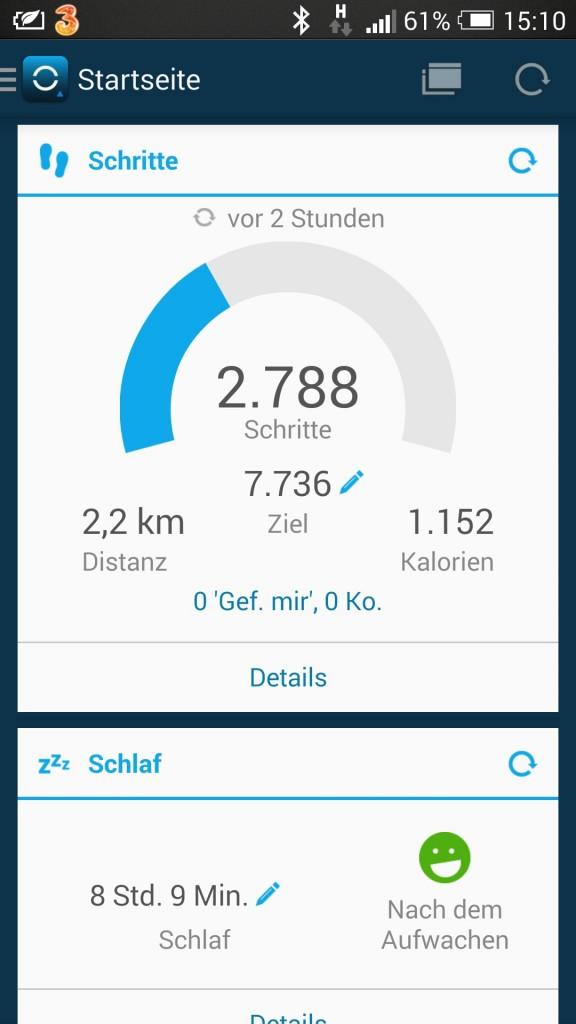 Schrittanzeige im App - smarttechnews