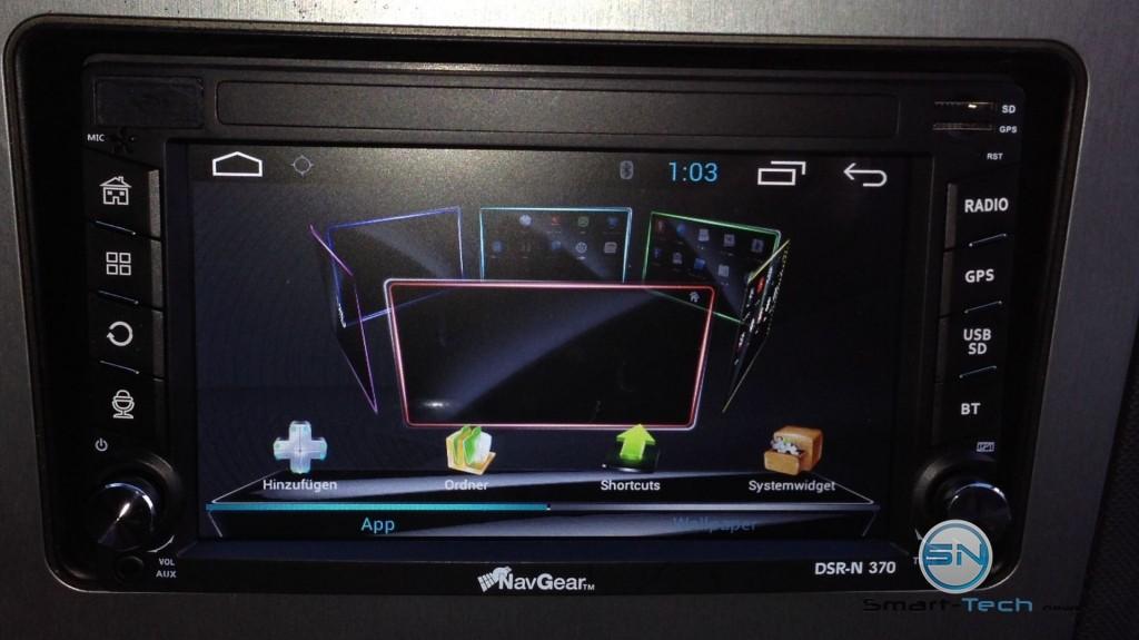 Rondellansicht der Widgets - NavGear DSR-N370