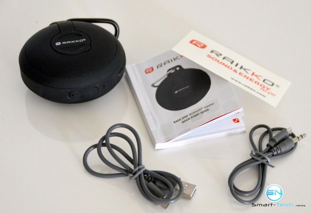 Lieferumfang - Raikko Bass Disc - SmartTechNews
