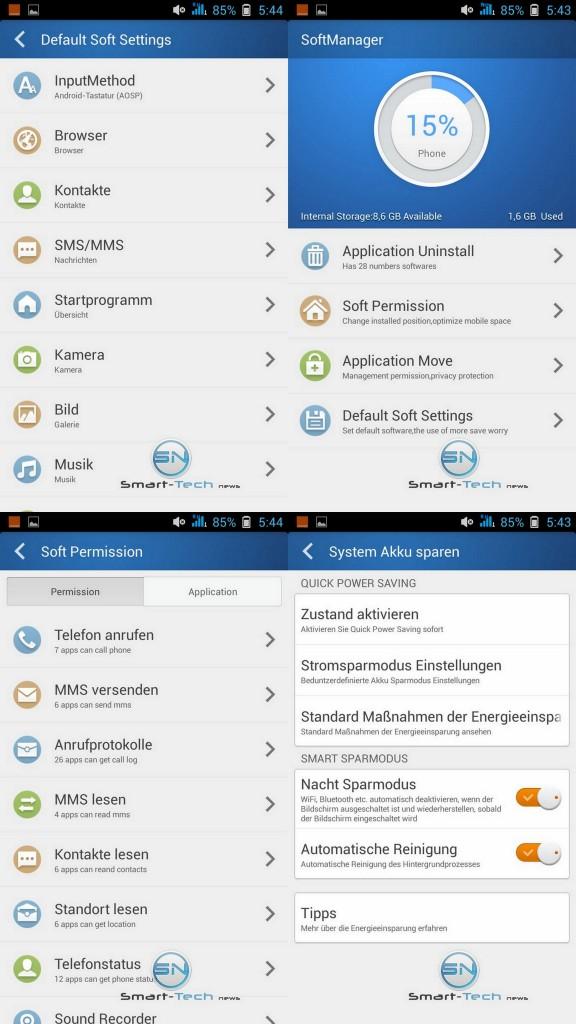 Menü + Einstellungsmöglichkeiten - Allview P7 Xtreme - SmartTechNews