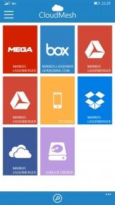 CloudMeshPro - Homescreen