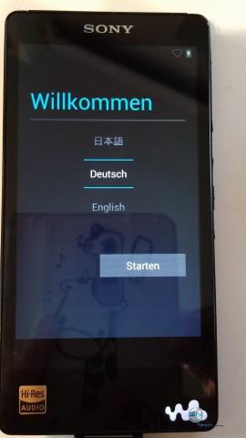 Sony Walkman NWZ F886 - Sprachauswahl