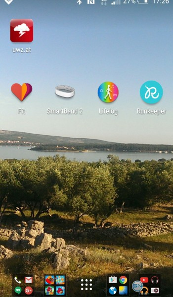 Apps HomeScreen- Sony SmartBand2 - SmartTechNews