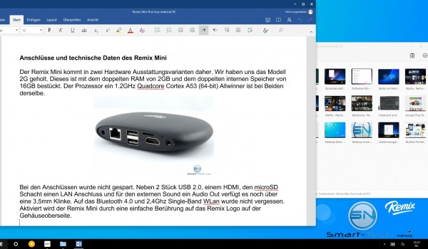 Microsoft Word am Remix Mini the dirst Android OC - SmarttechNews