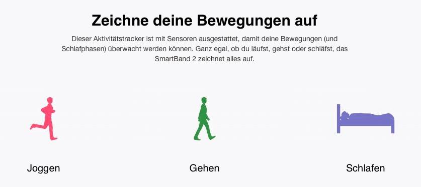 schlafen gehen laufen - Sony SmartBand 2 - SmartTechNews