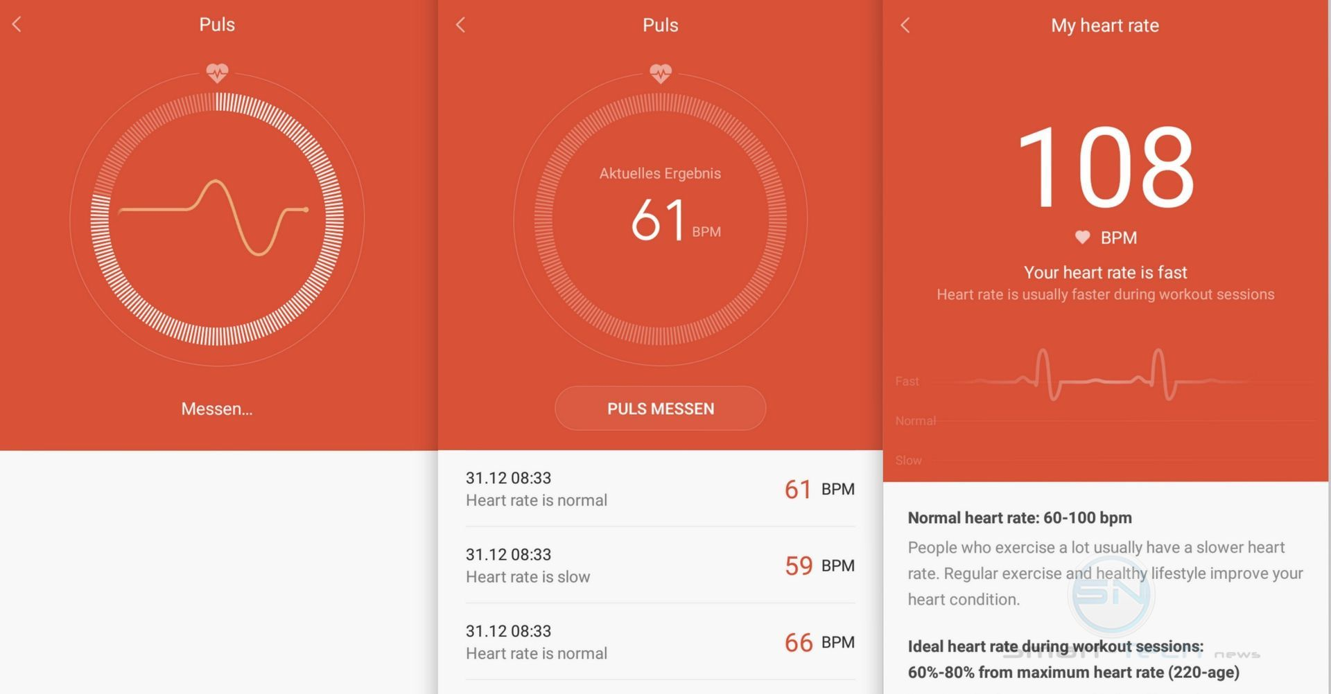 Puls Messung - Xiaomi MiBand 1s - SmartTechNews