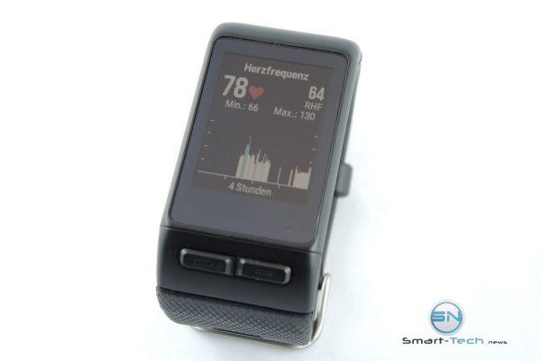 Pulsanzeige 4 Stunden- Garmin VivoActive HR - SmartTechNews