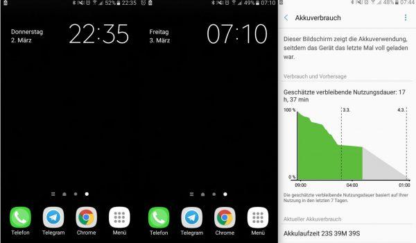 Standby Nacht - Samsung Galaxy A3 - SmartTechNews