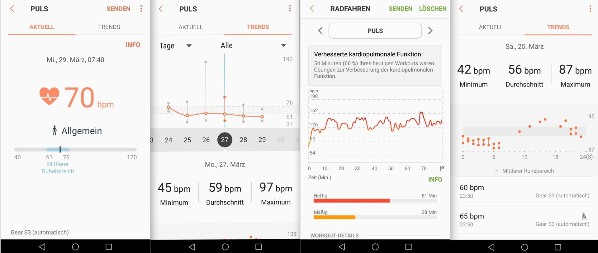 Aufzeichnung Puls - Samsung Gear S3 - SmartTechNews