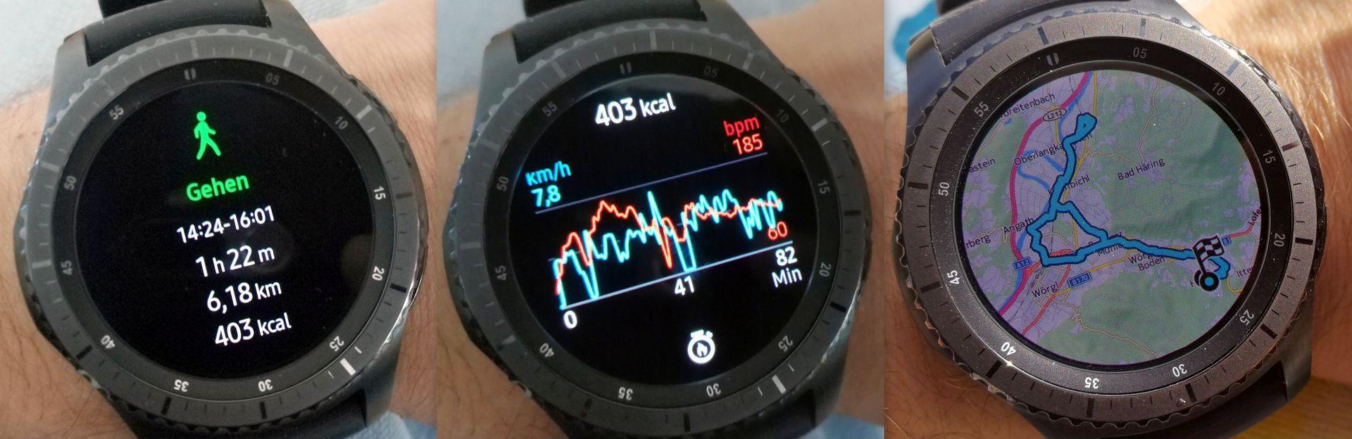 Gehen Strecke Puls Maps - Samsung Gear S3