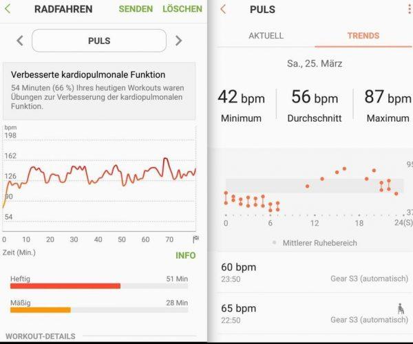 mobile 2 Aufzeichnung Puls - Samsung Gear S3 - SmartTechNews