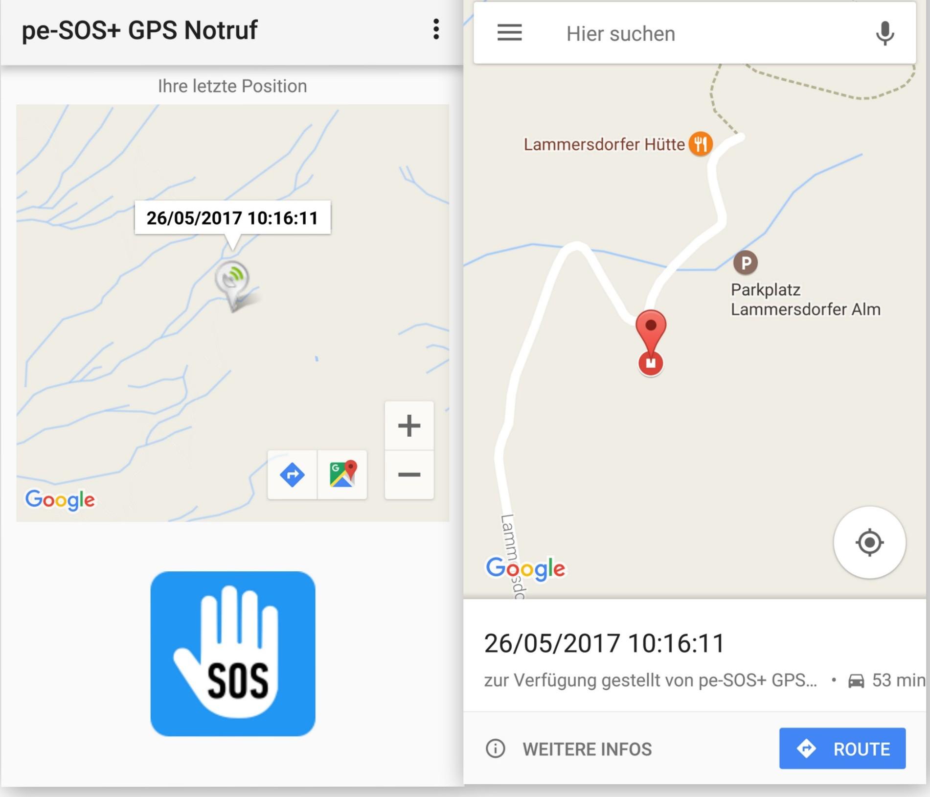 Google Maps - pe-SOS Tracking - SmartTechNews
