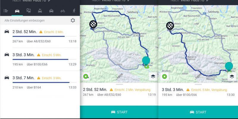 Here WeGo Alternative Route zum Ziel - SmartTechNews