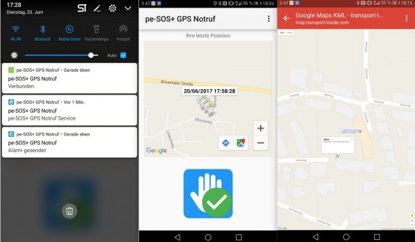 Notruf GPS Position - pe-SOS Tracking