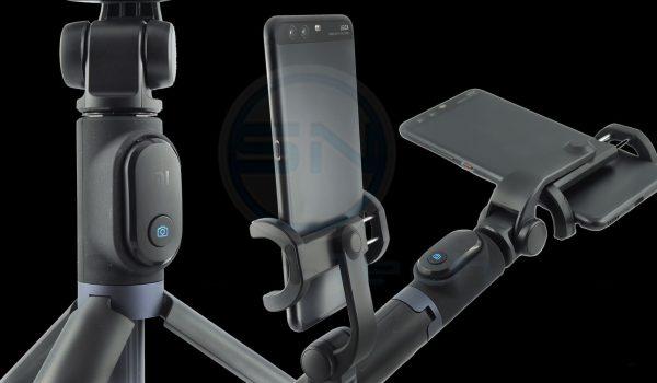 Selfie Stick Smartphone Stativ Einzelheiten black clear