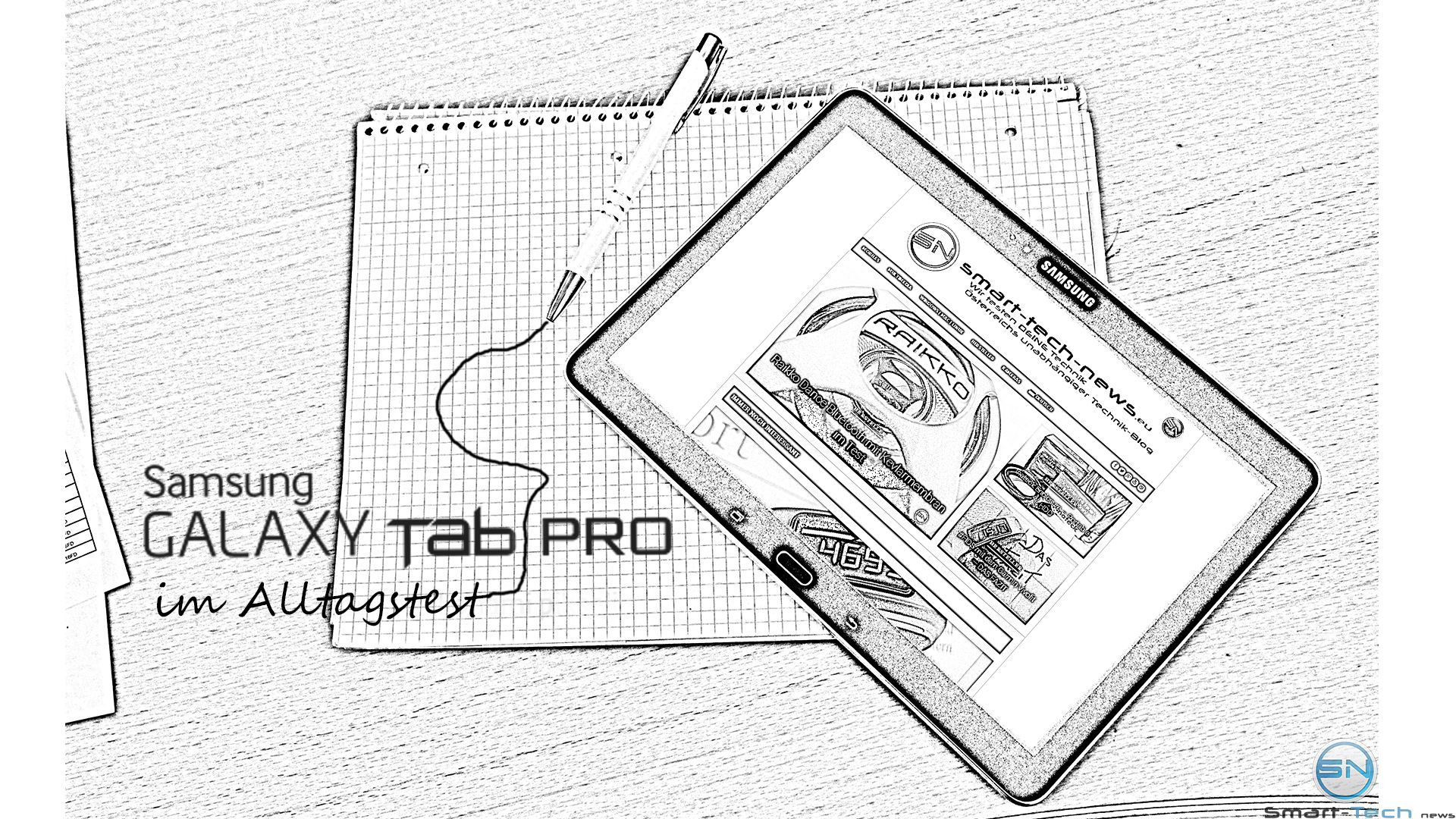 Samsung Galaxy Tab Pro (SM-T520) im Alltags-Office Test