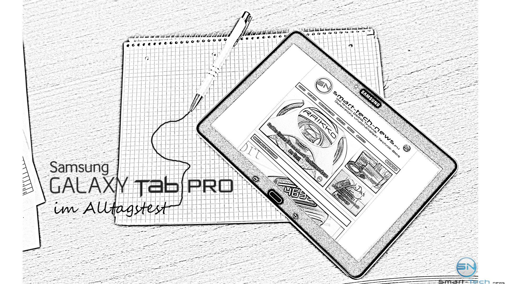 Samsung Galaxy Tab Pro (SM-T520) im Alltags-Office Test
