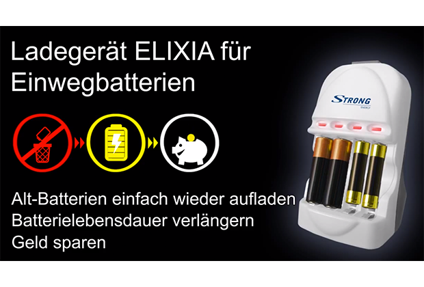 Einwegbatterien – Strong Battery Charger Elixia