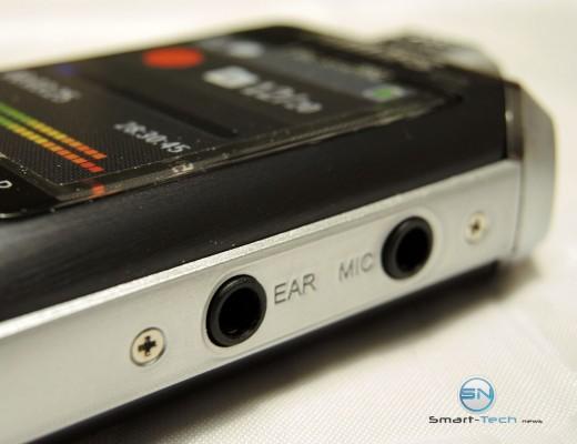Kopfhörer und Mikrofon Anschluss - Philips DVT 6000 Voice Tracer - SmartTechNews
