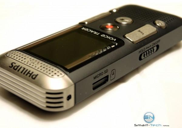 MicroSD und Powertaste - Philips DVT 2700 - SmartTechNews