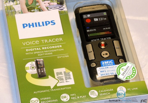 Philips DVT 2700 Voice Tracer mit Voice to Doc Funktion