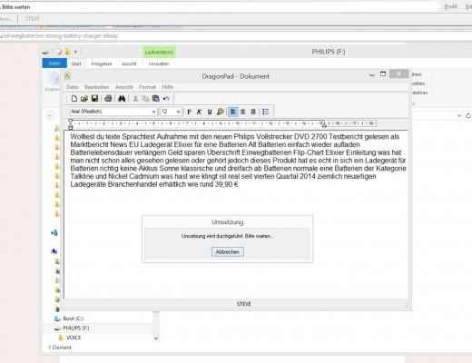 freie Textaufnahme - Philips Voice Tracer DVT 2700- SmartTechNews