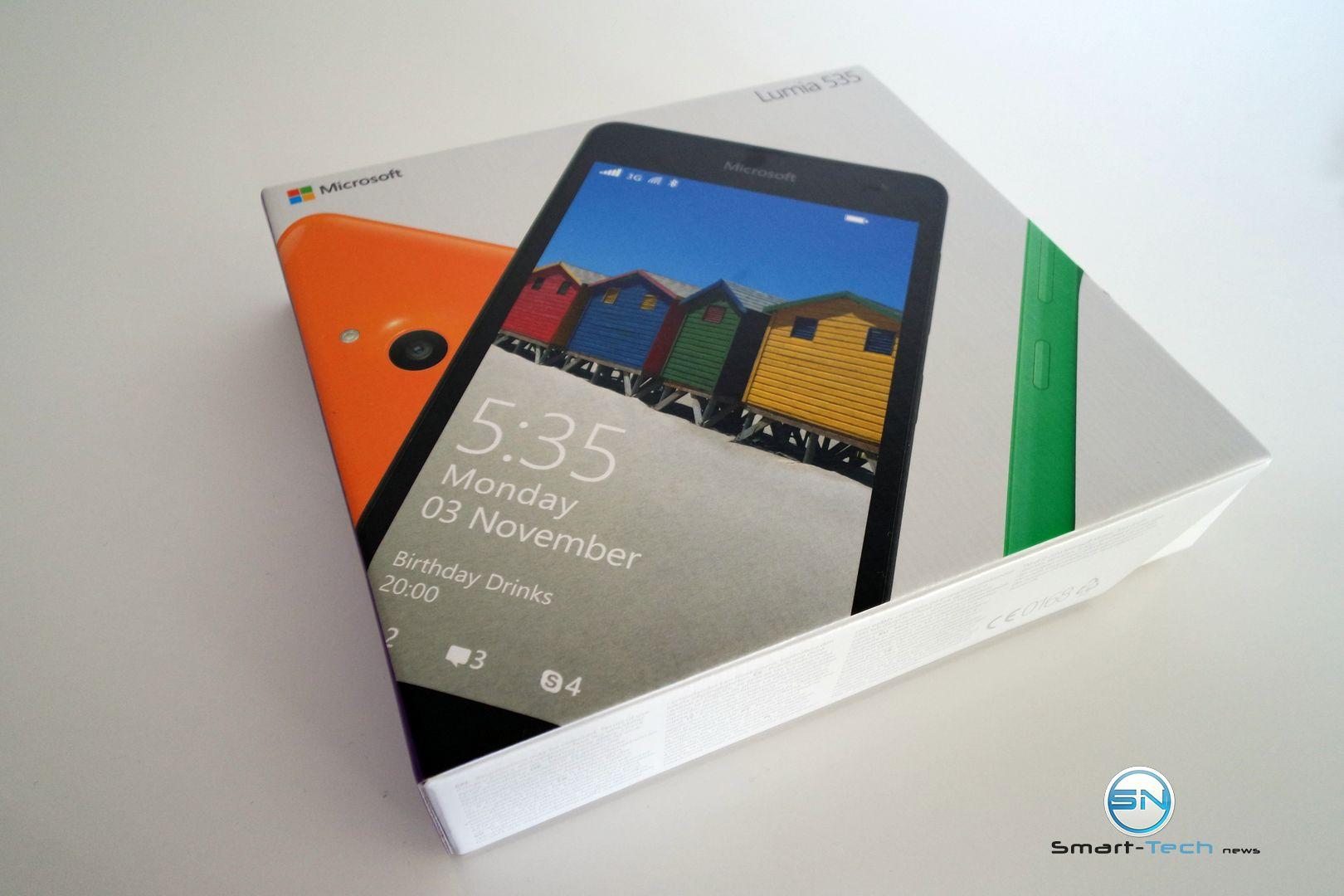 Unboxing des Microsoft Lumia 535