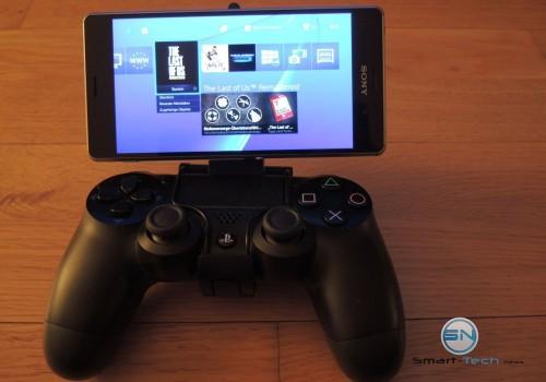 PS4 Homeschreen auf Sony Z3 mit PS4 Controler - SmartTechNews