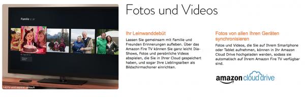 Fotos und Video in der Amazon Cloud am FireTV