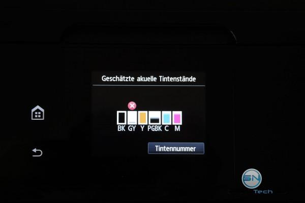 Tintenvorrat - Canon Pixma MG7550 - SmartTechNews