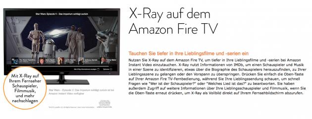 X Ray am FireTV