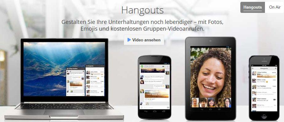 Google Hangouts mit eigener Weboberfläche
