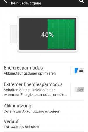 Standard Nutzung 45 Prozent - HTC One M9 - SmartTechNews