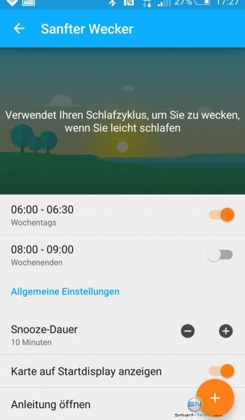 Einstellung Wecker - Sony SmartBand 2 - SmartTechNews