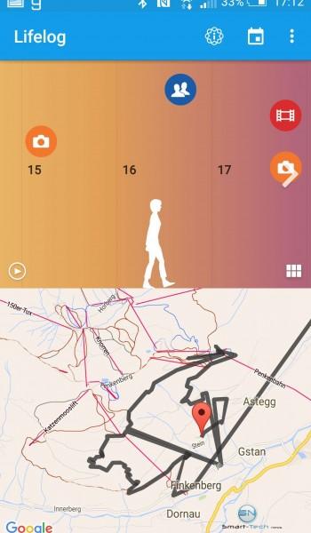 GPS Aufzeichnung Wandern - Sony SmartBand 2 - SmartTechNews