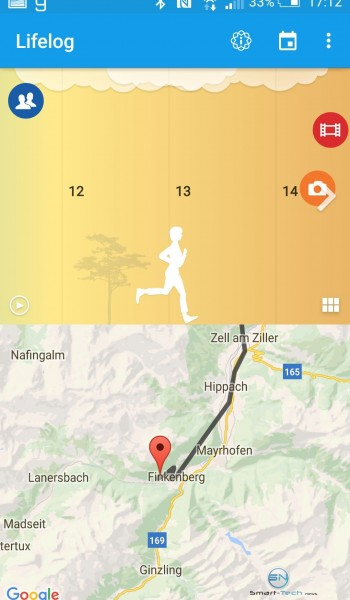 GPS Aufzeichnung laufen - Sony SmartBand 2 - SmartTechNews