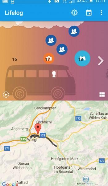 GPS u. SM Aufzeichnung - Sony SmartBand 2 - SmartTechNews