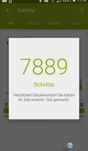 Schritte Glückwunsch - Sony SmartBand 2 - SmartTechNews