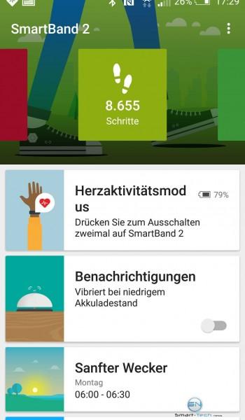 Sony SmartBand 2 App Schritte - SmartTechNews