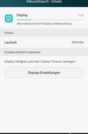Akku 2 Stunden Display Aktiv - Huawei P8 Lite - SmartTechNews
