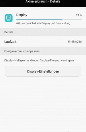 Akku 6 Stunden Display Aktiv - Huawei P8 - SmartTechNews