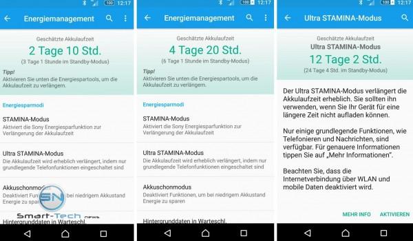 Akku Ausdauer - Sony Xperia Z5 - SmartTechNews
