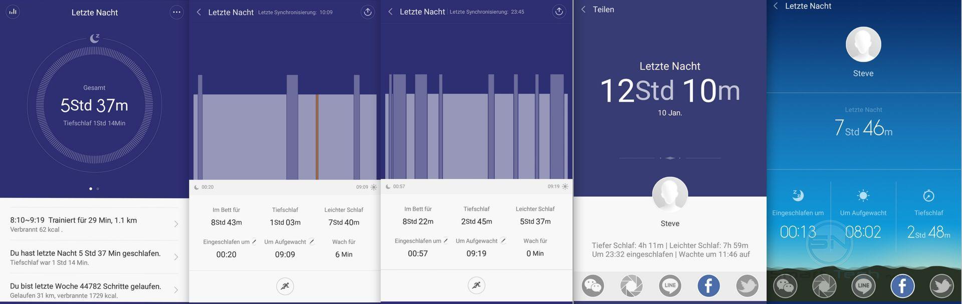 Schlaf Wach Traumphasen Prodokoll - Xiaomi MiBand 1s - SmartTechNews