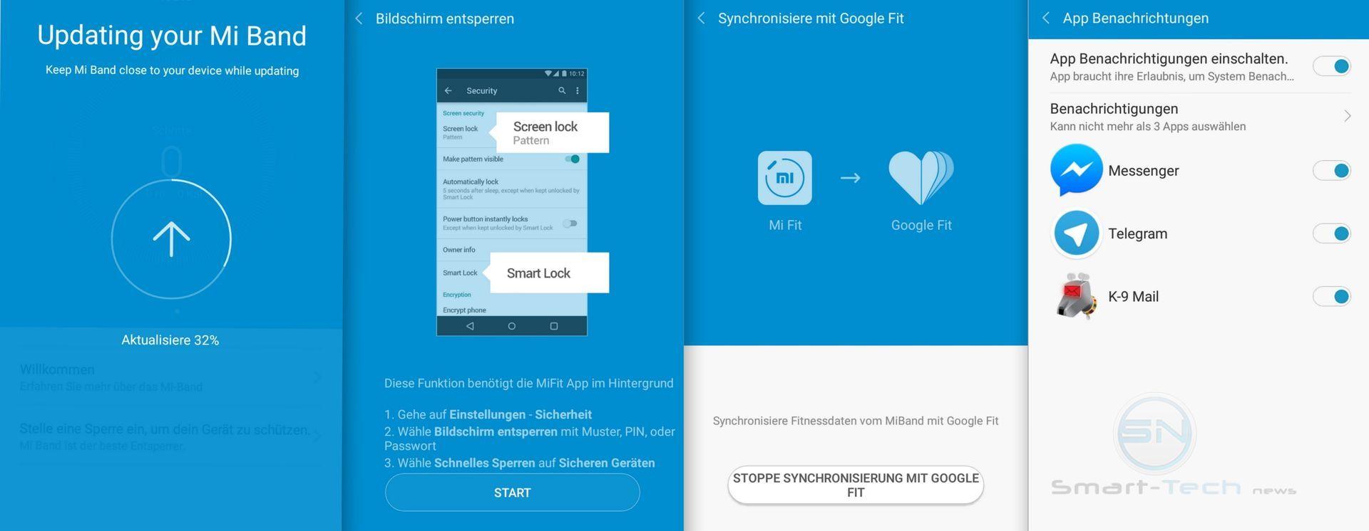 Sonderfunktionen - Xiaomi MiBand 1s - SmartTechNews