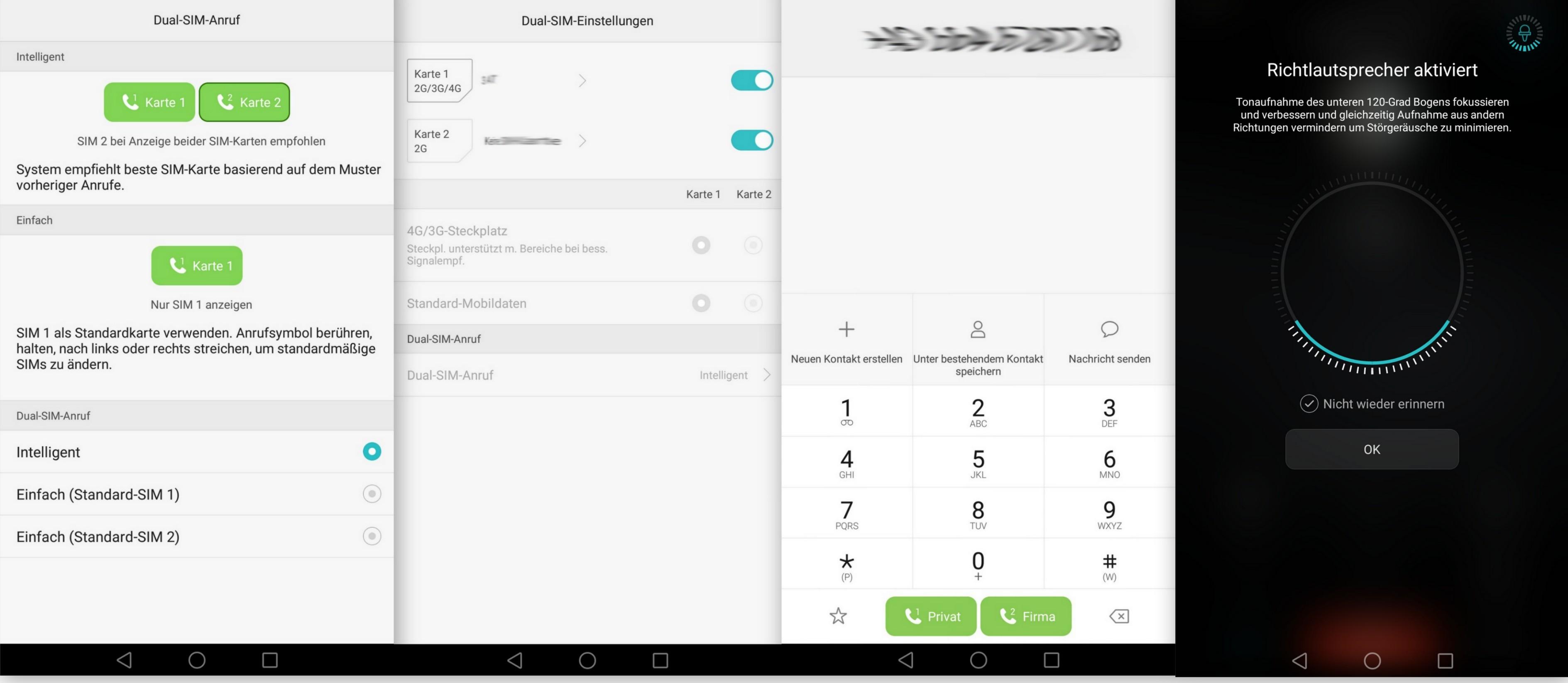 Dual SIM Einstellung - Huawei Mate 8 - SmartTechNews