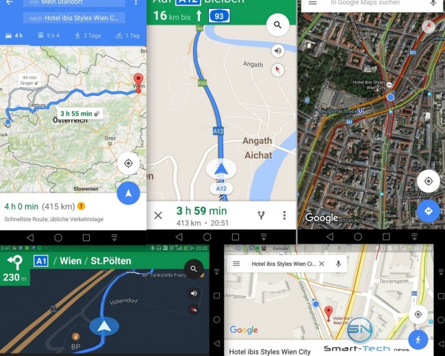 Navigation Google Maps - Huawei P9 - SmartTechNews