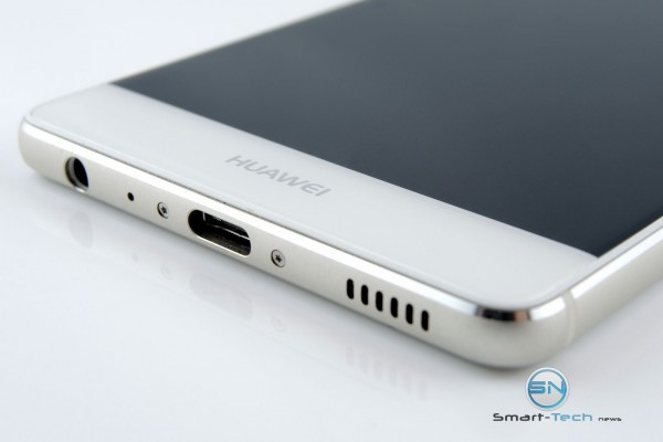 Unterseite USB C - Lautsprecher - Klinke - Huawei P9 - SmartTechNews